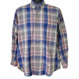 Chaps Ralph Lauren Men's Button Front Shirt Plaid